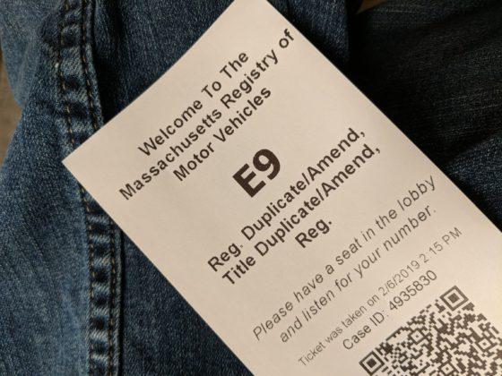RMV Ticket