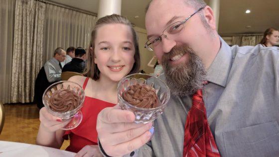 Father Daughter Dance Dessert Selfie