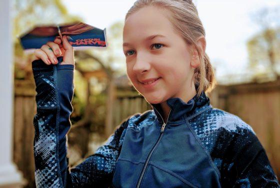 Eva and the DIY Captain Marvel Glider