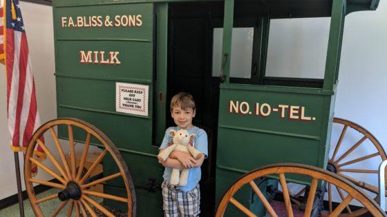 Andrew and Lambie at Milk Cart