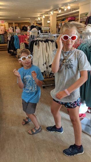 Goofing around with glasses