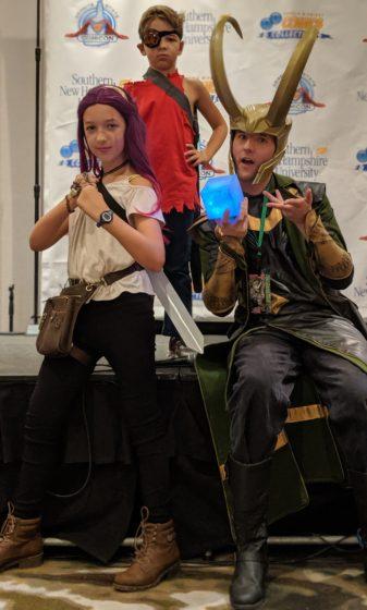 The kids with Loki