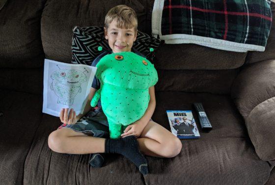 Andrew's Alien Budsies character