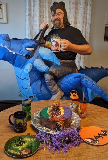 Dragon Riding with my Peanuts Mug