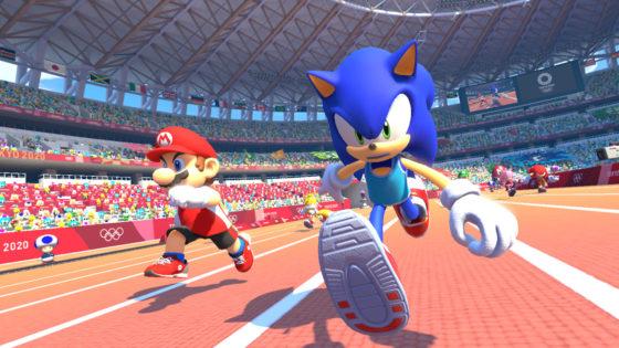 Mario and Sonic 100m Dash
