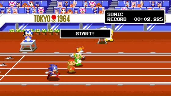 Mario Sonic Tails and Luigi 100m Dash
