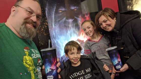 Family time Seeing Rise of Skywalker