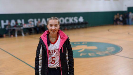 Eva at Basketball