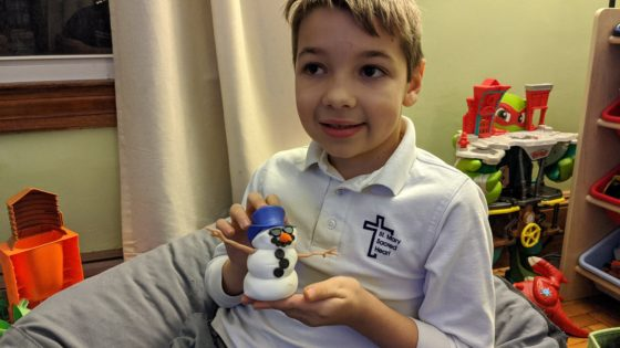Andrew and his Snowman