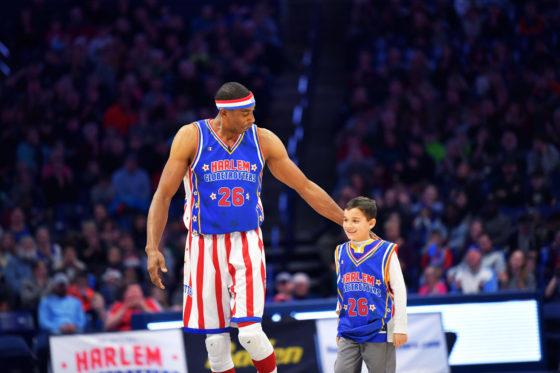 Harlem Globetrotter With Kid