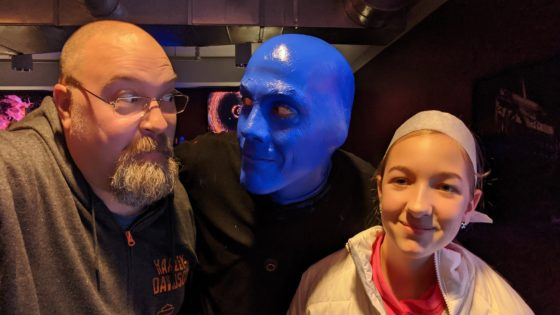 At Blue Man Group