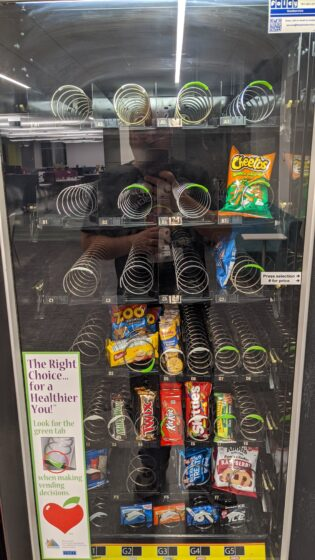 almost clear vending machine