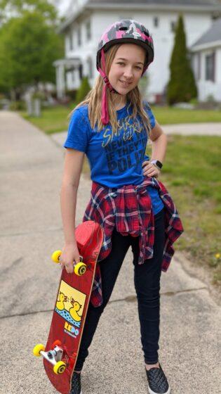 Eva and the Eye Candy Pop Barking Ducks skateboard