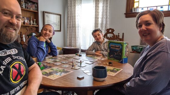 Playing Minecraft Board Game