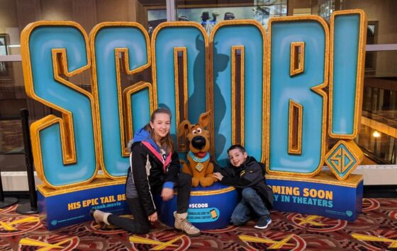 The kids and Scoob