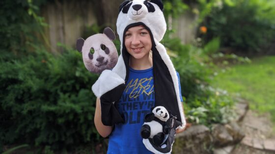 Eva in Panda Gear
