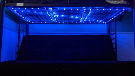 Rope Lights Under Bed