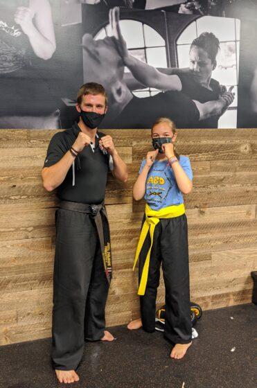 Eva earns her yellow belt