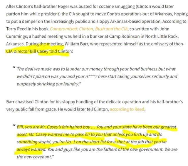 William Barr Bill Clinton CIA