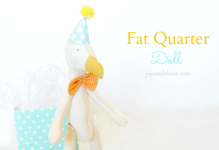 Duck stuffed animal sewing tutorial with free pattern