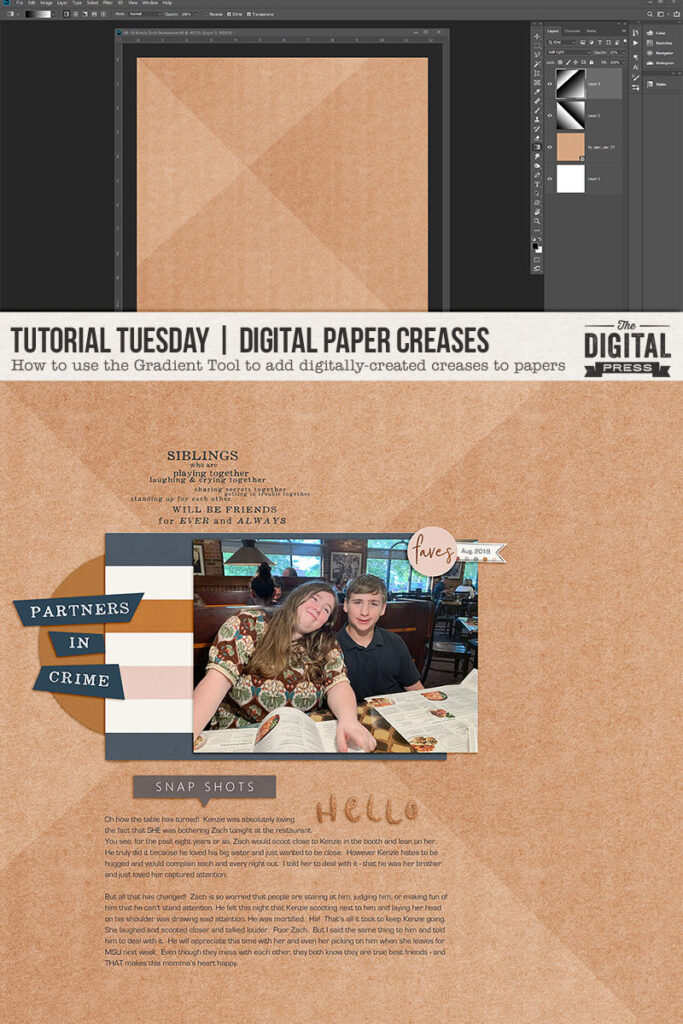 Create digital paper creases using Adobe Photoshop tutorial