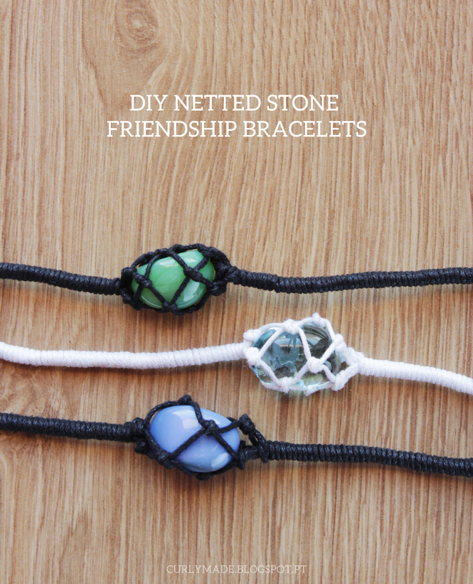 Netted Stone Bracelet DIY