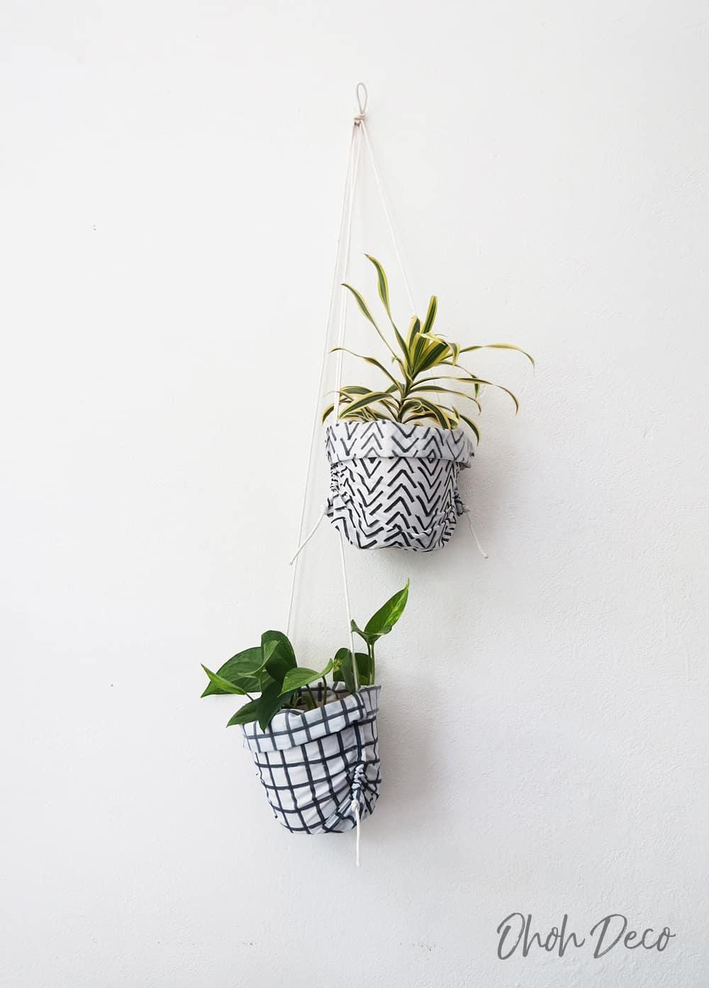 DIY Plant Hanger sewing tutorial
