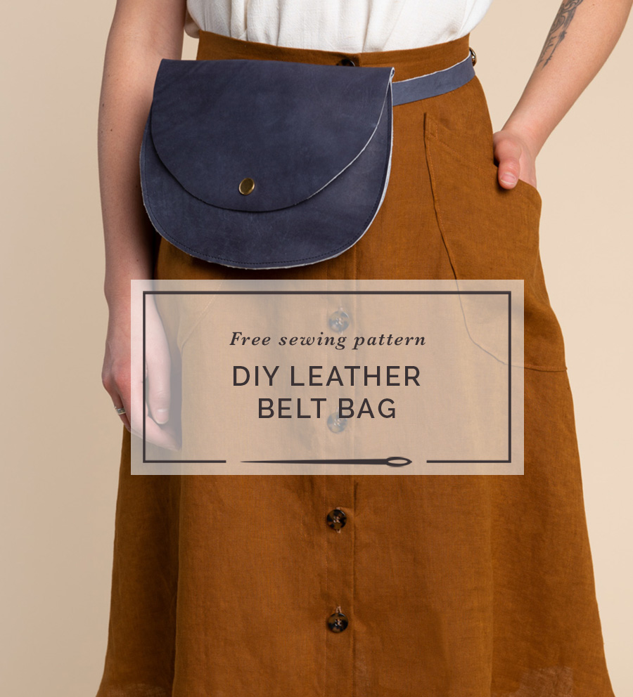 Make a fashionable leather fanny pack!