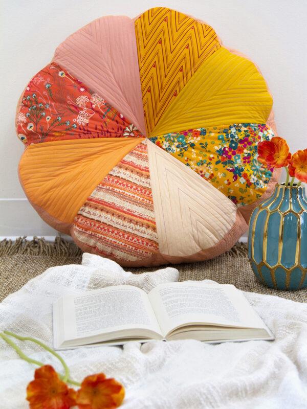 Sew a pretty patchwork floor cushion
