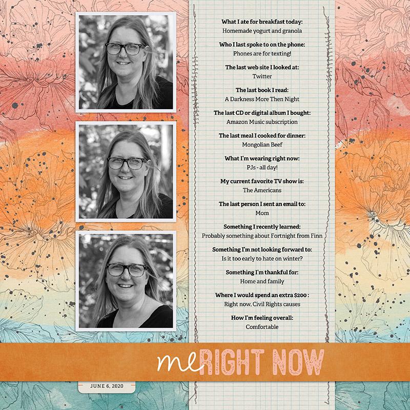Me Right Now layout by Jennifer Conlon
