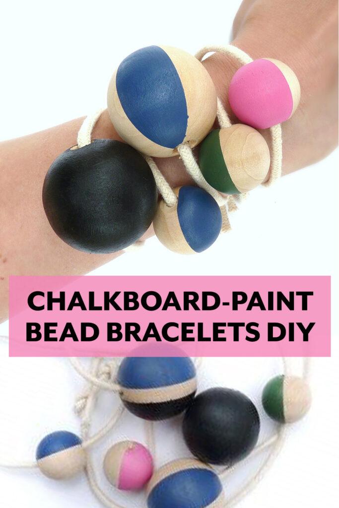Chalkboard-Paint Bead Bracelets DIY