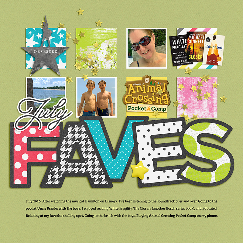 July Faves Scrapbook Layout