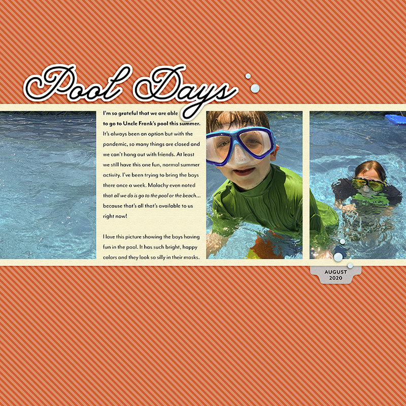 Pool Days digital scrapbooking layout by Jen Conlon