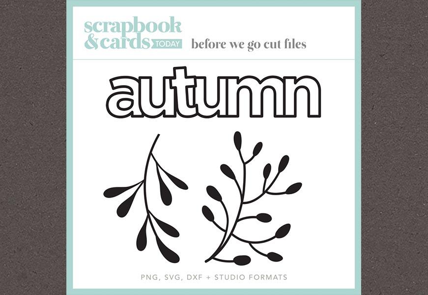 Autumn cut file freebie from Cathy Zielske