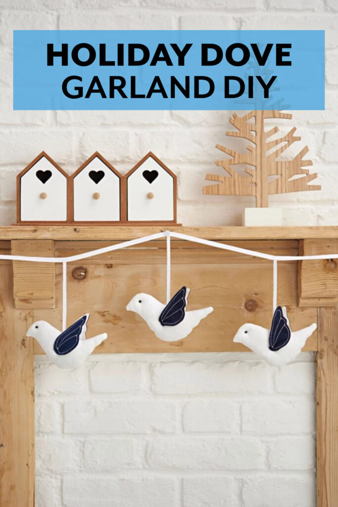 Peace Dove Holiday Garland DIY