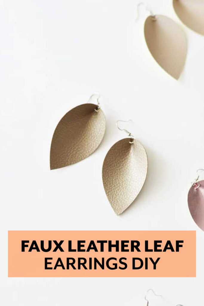 Make your own Magnolia Petal inspired faux leather drop earrings with this jewelry DIY