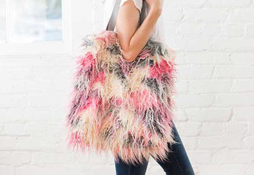 Faux Fur Tote Bag DIY