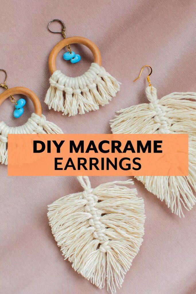 DIY Macramé Earrings jewelry tutorial