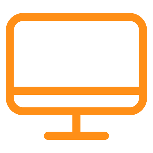 Sunsure Insurance Solutions - Computer Monitor Icon - Orange