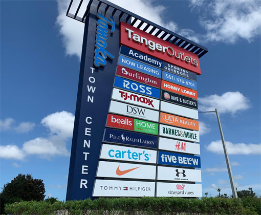 Tomoka Town Center sign