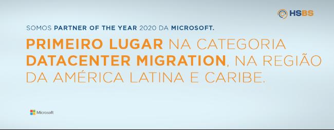 HSBS é Partner of the Year 2020 da Microsoft