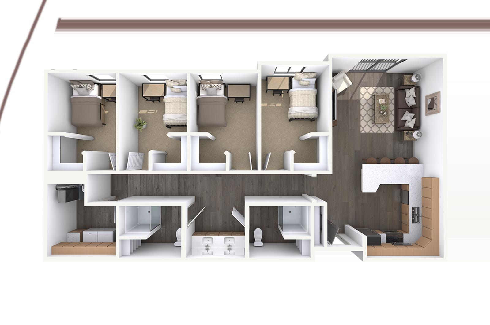 Orem Student Housing Floor Plans
