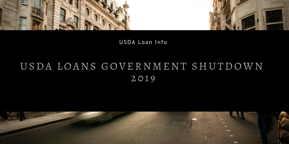 USDA Loans Government Shutdown