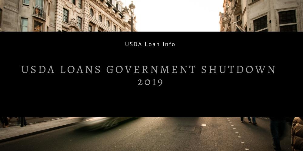 USDA Loans Government Shutdown