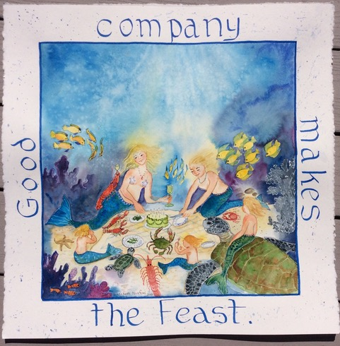 Good company makes the feast. Image 0409. 15x15 paper size $2500.00