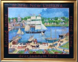 """Rolling home to dear New England"".  22x27"".   $2800.00"
