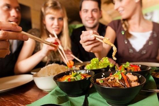 enjoying umami foods