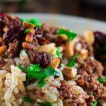 Lebanese Lamb and Rice Stuffing (Hashweh)