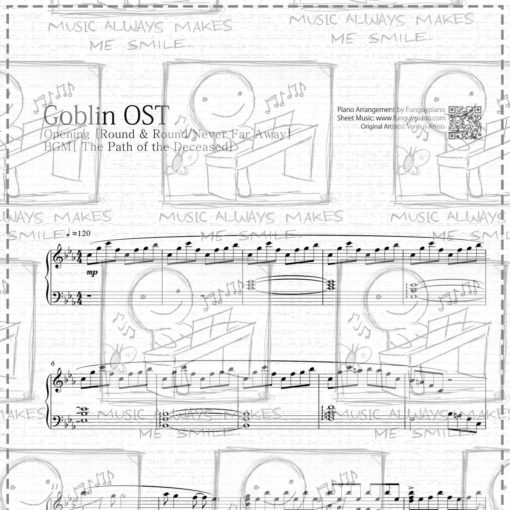 Goblin Opening - Round and Round & BGM [ Sheet Music / Midi / Mp3 ]