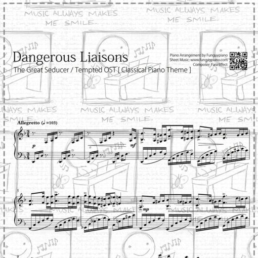 The Great Seducer / Tempted OST - Dangerous Liaisons [Classical Piano  Theme] [ Sheet Music / Midi / Mp3 ]